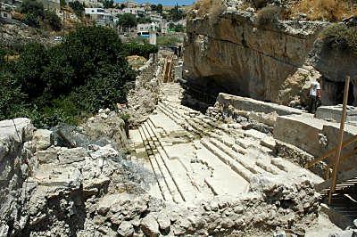 Excavations_des_bains_de_Siloe_vues_du_s