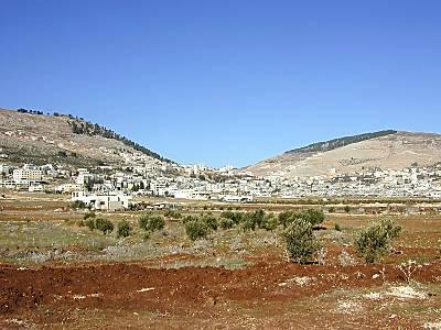 Mont Garizim et Mont Ebal, vue orientale